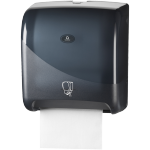 Qleaniq®, Hand towel dispenser, Plastic, design luxury, matic tear & go, black