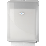 Qleaniq®, Hand towel dispenser, Plastic, design luxury, multi-fold , white