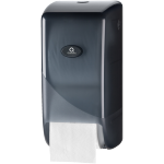 Qleaniq®, Toilet paper dispenser, Plastic, design luxury, , black