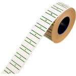 Label, Price label, Paper, Stripes, 21x12mm.green