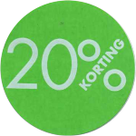 Label, Sale/Reduced label, Paper, 20% discount, ∅30, green