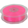 Ribbon, 25mm, 25m, neon Pink