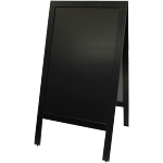 Pavement board, Wood, 70x130cm, black.