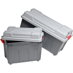 Container, Plastic, With handles, transport container, 740x340x380mm, petrol/Grey