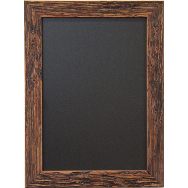 Chalkboard, wood, 66x66cm, Brown. 1