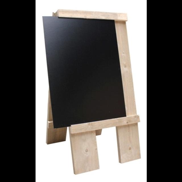 100 x 60cm Chalkboard Large Grey Wooden A Board Pavement Sign Blackboard