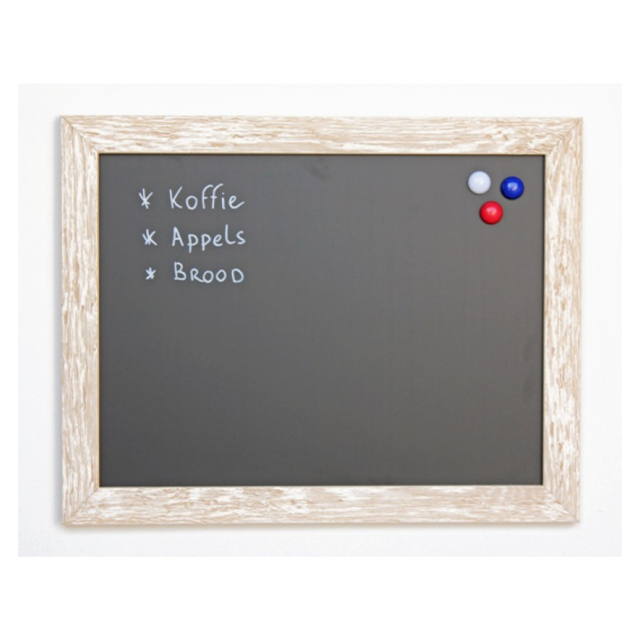 Chalkboard, wood, 39x59cm, white/Cream 1