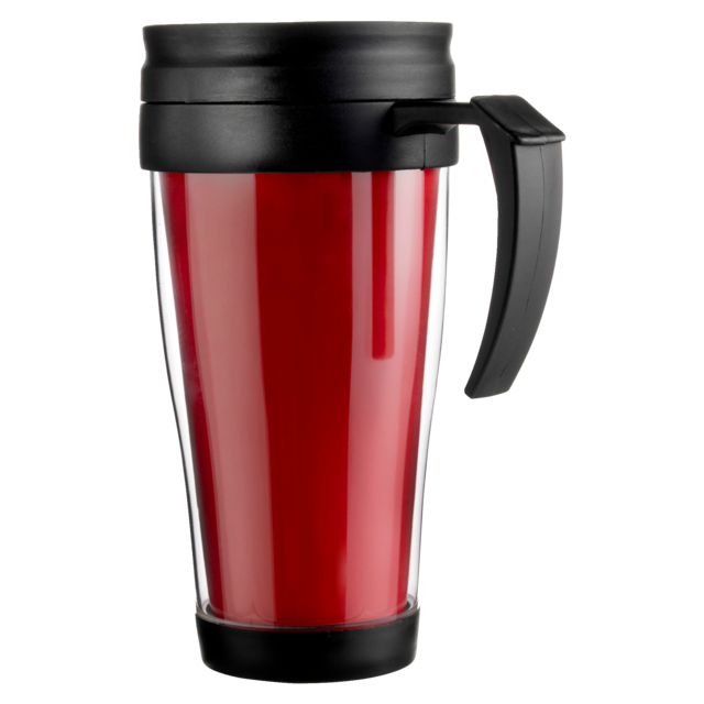 Drinking cup, PP, 400cc, 202gr, Ø8,1cm, red 1
