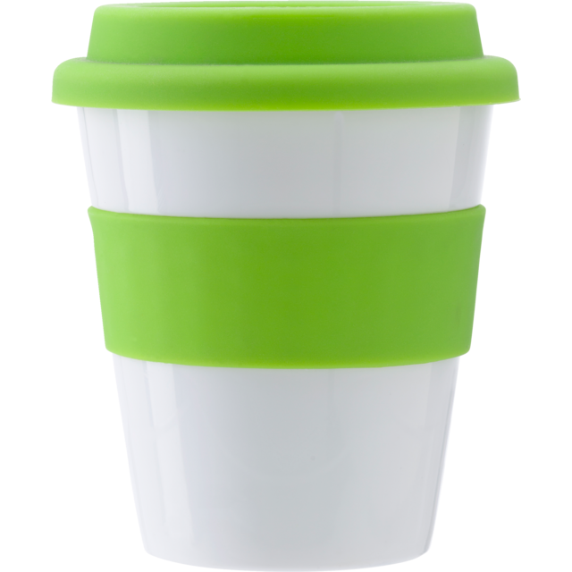 Drinking cup, PP, 356cc, 92gr, Ø9,4cm, lime 1
