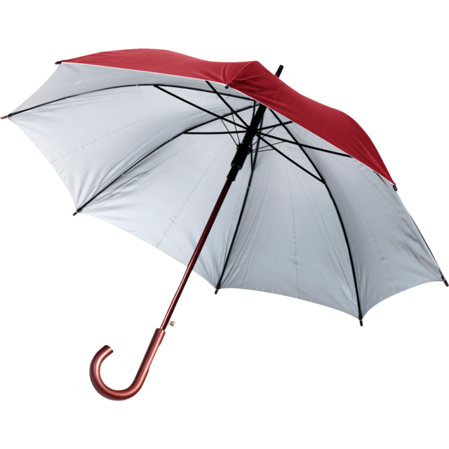Umbrella, automatic, burgundy 1