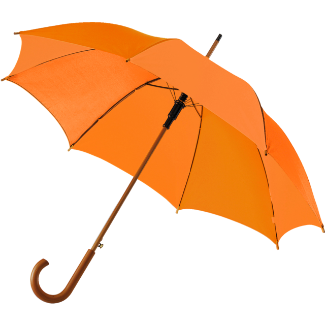 Umbrella, classical, orange  1