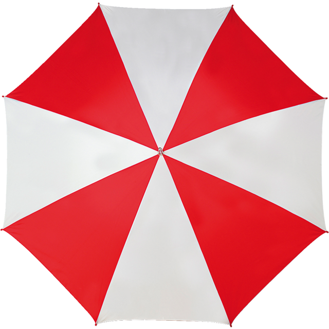 Umbrella, golf, red/White 1