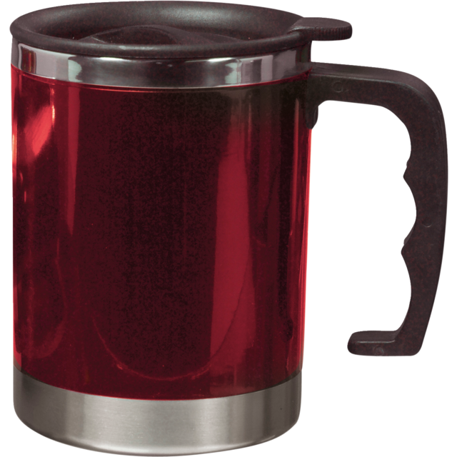 Insulating cup, Stainless steel, 400cc, 224gr, Ø8,5cm, red 1