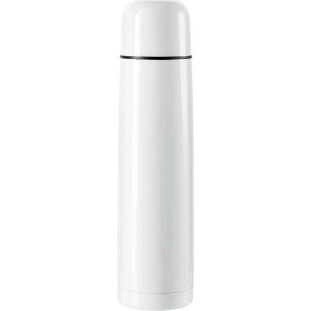Bottle, thermosfles, Stainless steel, 1000cc, white 1