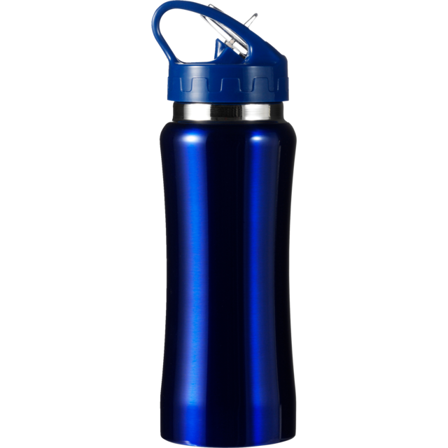 Water bottle, Stainless steel, Ø7cm, 600cc, 210gr, 22,7cm, blue. 1