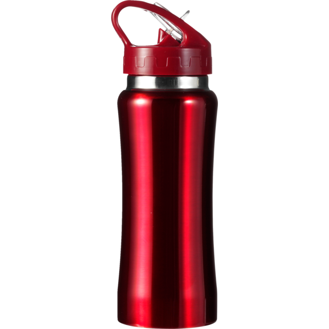 Trinkflasche, Stainless steel, Ø7cm, 600cc, 210gr, 22,7cm, rot. 1