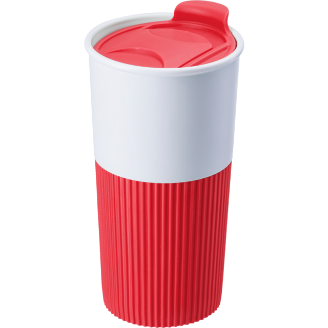 Drinking cup, Rubber, 500cc, 152gr, Ø8,7cm, red 1