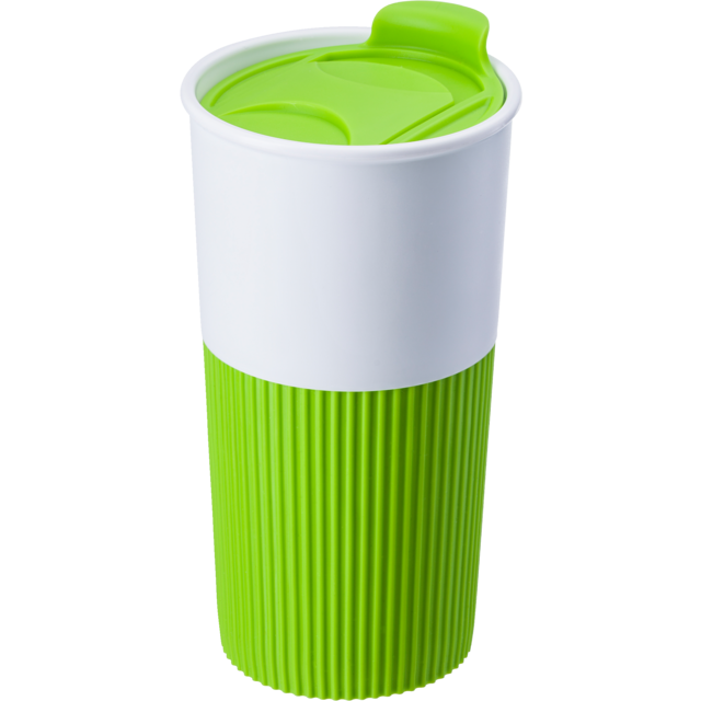 Drinking cup, Rubber, 500cc, 152gr, Ø8,7cm, lime 1