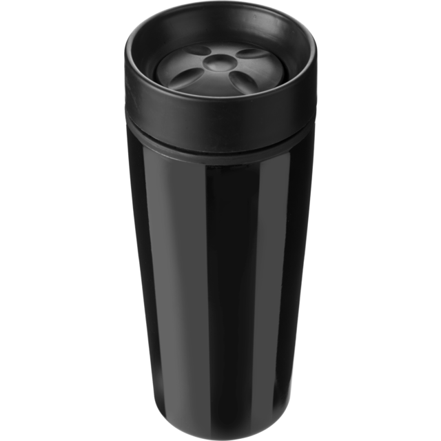 Drinking cup, Stainless steel, 450cc, 298gr, Ø8,1cm, black 1