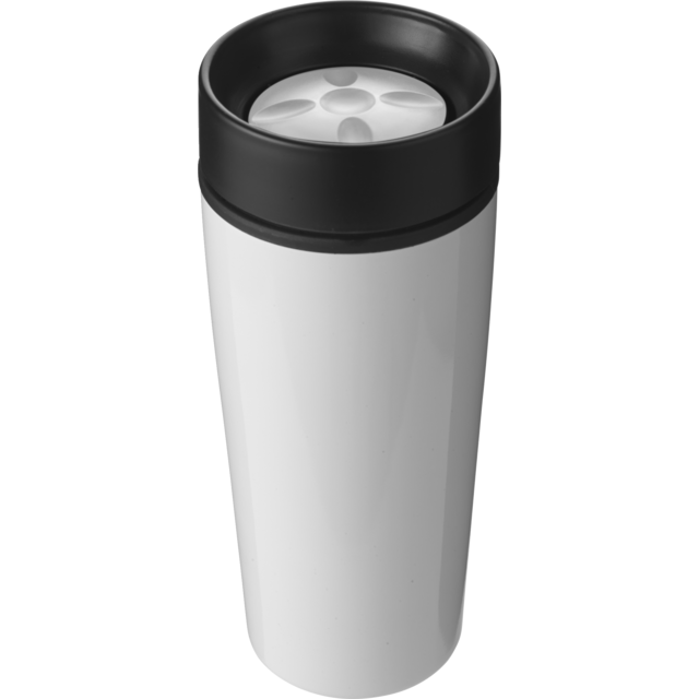 Drinking cup, Stainless steel, 450cc, 298gr, Ø8,1cm, white 1
