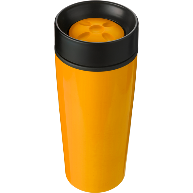 Drinking cup, Stainless steel, 450cc, 298gr, Ø8,1cm, orange  1