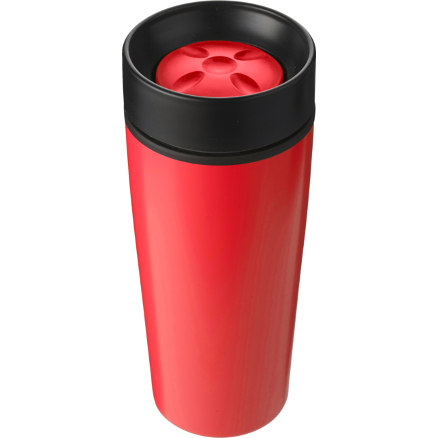 Drinking cup, Stainless steel, 450cc, 298gr, Ø8,1cm, red 1
