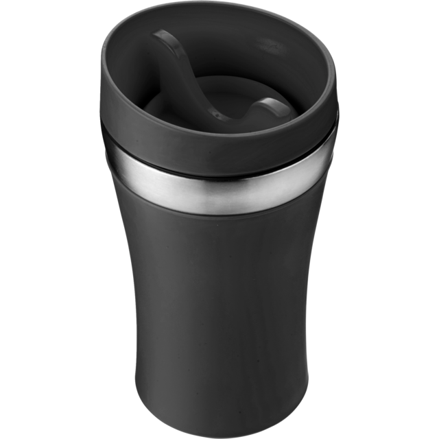 Drinking cup, Stainless steel, 350cc, 234gr, Ø8,4cm, black 1