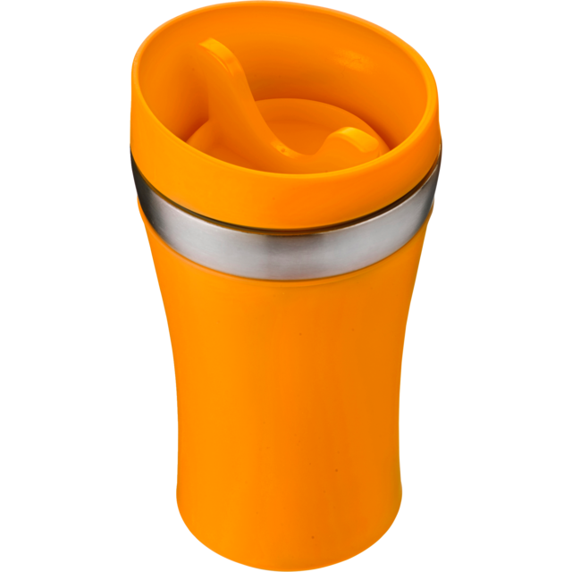 Trinkbecher, Stainless steel, 350cc, 234gr, Ø8,4cm, orange  1