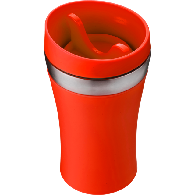 Drinking cup, Stainless steel, 350cc, 234gr, Ø8,4cm, red 1