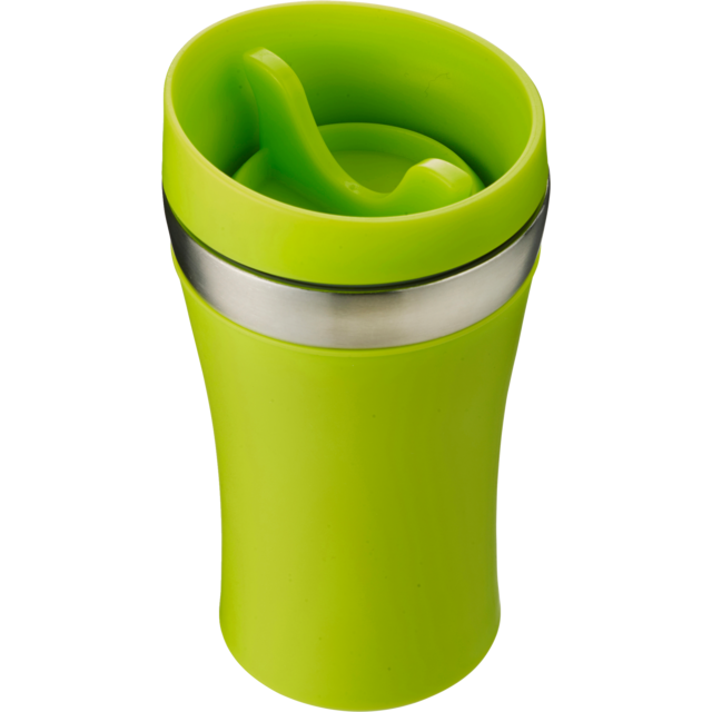 Drinking cup, Stainless steel, 350cc, 234gr, Ø8,4cm, lime 1