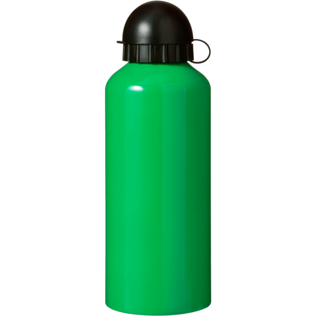 Water bottle, Aluminum, Ø7,2cm, 650cc, 154gr, 21,5cm, green. 1