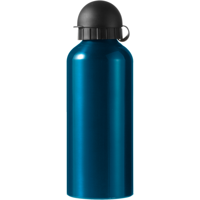 Water bottle, Aluminum, Ø7,2cm, 650cc, 154gr, 21,5cm, blue. 1