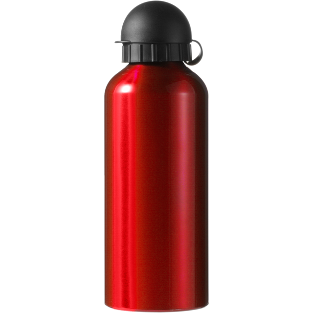 Water bottle, Aluminum, Ø7,2cm, 650cc, 154gr, 21,5cm, red. 1