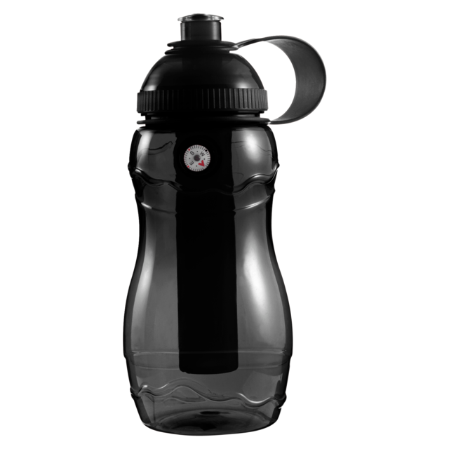 Water bottle, Ø6,2cm, 400cc, 138gr, 20cm, black. 1