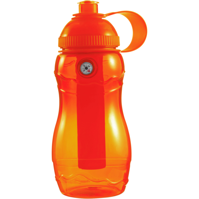 Water bottle, Ø6,2cm, 400cc, 138gr, 20cm, orange . 1