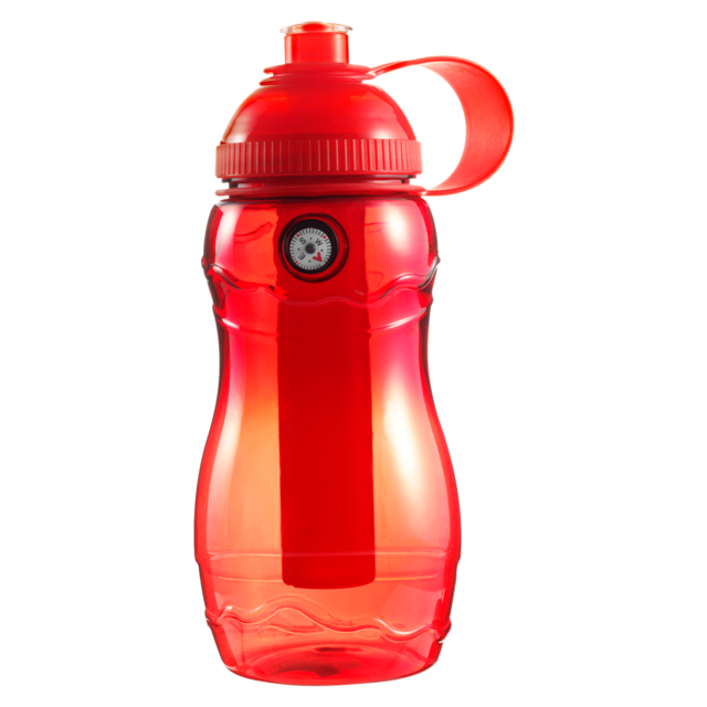 Water bottle, Ø6,2cm, 400cc, 138gr, 20cm, red. 1