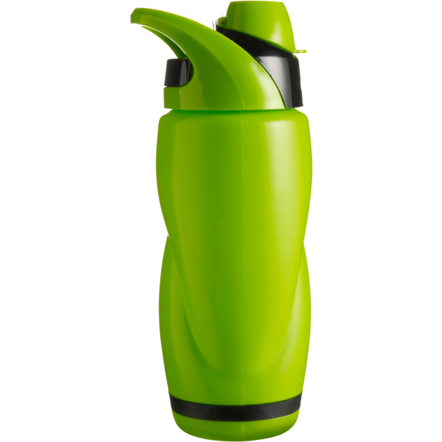 Water bottle, PP, Ø6,2cm, 650cc, 96gr, 21,5cm, light Green. 1