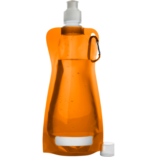 Water bottle, Ø12cm, 420cc, 26gr, 27,3cm, orange . 1
