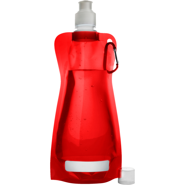 Water bottle, Ø12cm, 420cc, 26gr, 27,3cm, red. 1