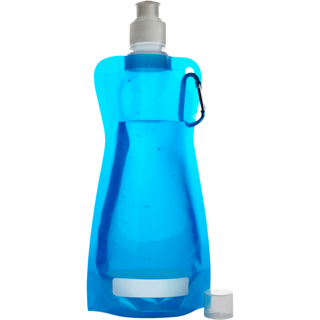 Water bottle, Ø12cm, 420cc, 26gr, 27,3cm, light Blue. 1