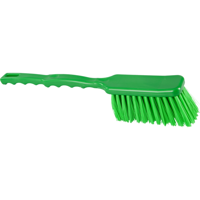 Qleaniq® washing-up brush, hard, 410x55mm, green 1