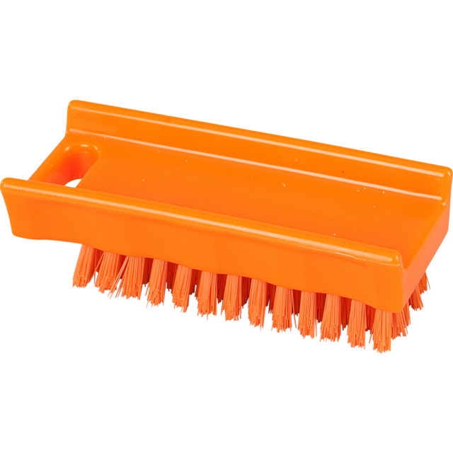 Qleaniq® nagelborstel, medium, 110x45mm, orange  1