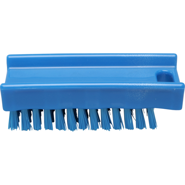 Qleaniq® nagelborstel, hard, 110x45mm, blue 1