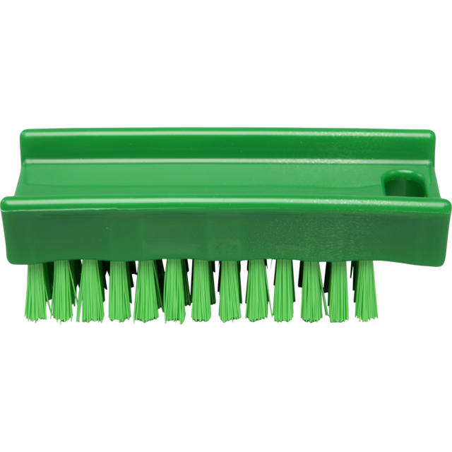 Qleaniq® nagelborstel, hard, 110x45mm, green 1