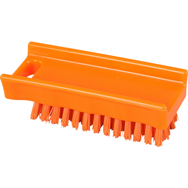 Qleaniq® nagelborstel, hard, 110x45mm, orange 1