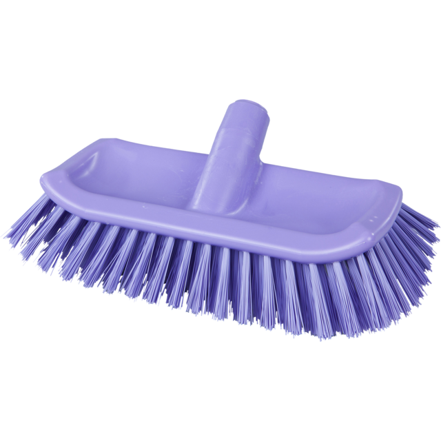 Qleaniq® Scrubbing brush, hoekschrobber, purple 1