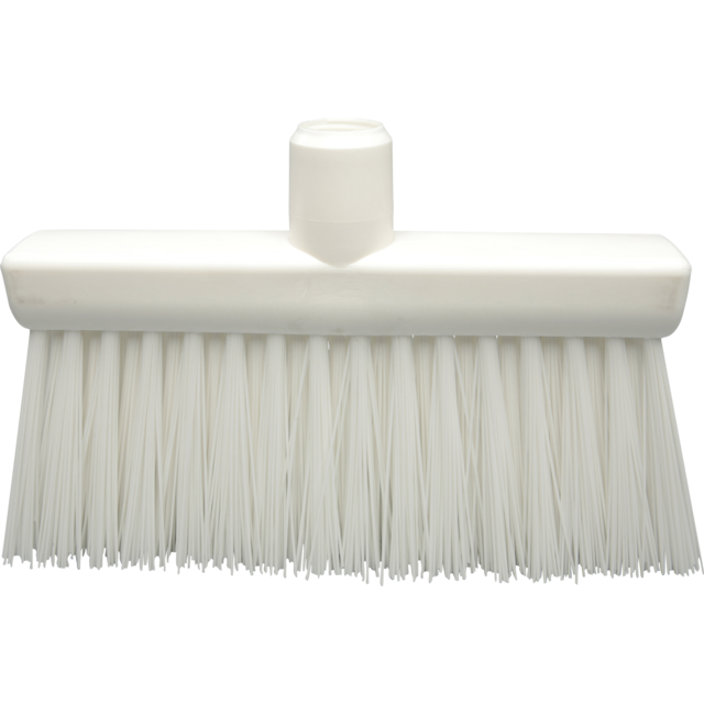 Qleaniq® Broom, hard, white 1