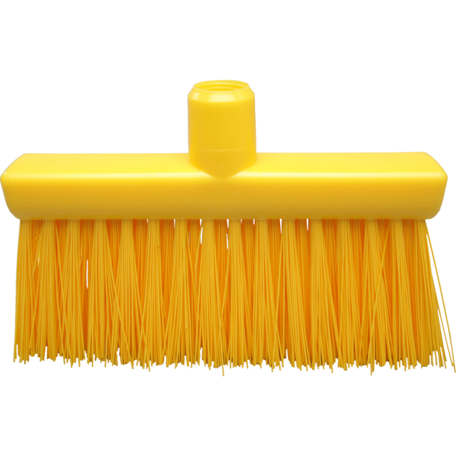 Qleaniq® Broom, hard, yellow 1
