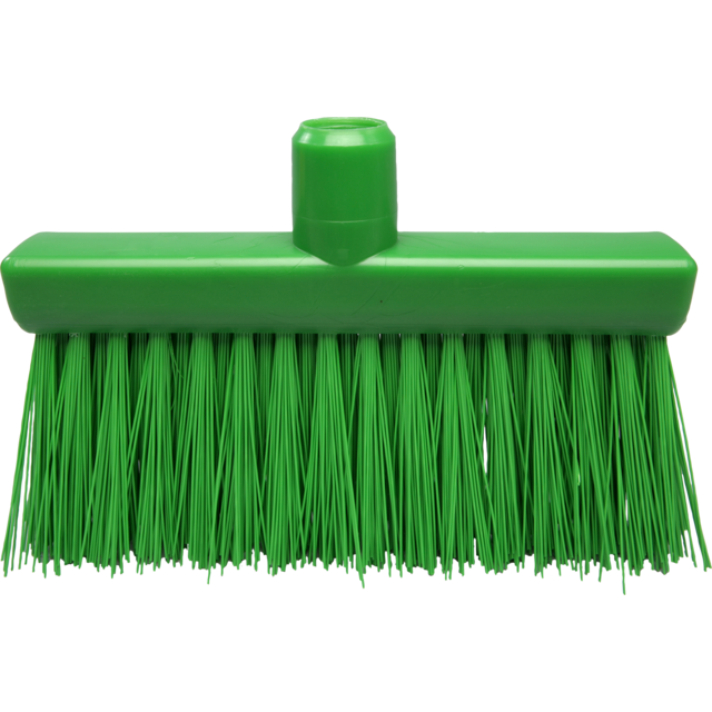 Qleaniq® Broom, hard, green 1