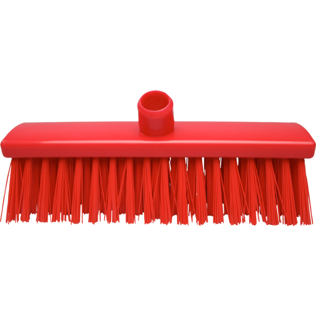 Qleaniq® Broom, extra hard, 300mm, red 1